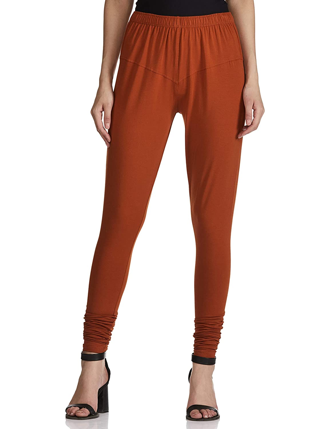 LUX LYRA Women's Leggings Silk_36_Dark Rust_Free Size