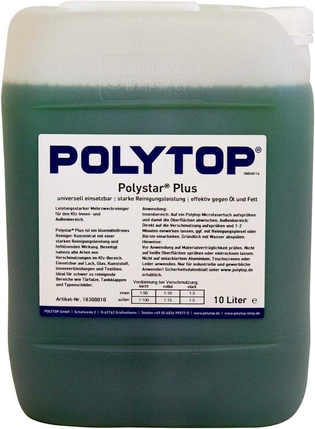 Polytop Polystar Plus Reinigungskonzentrat Für Innen Und Außen Pkw Lkw Bus Mehrzweckreiniger 10 L Auto