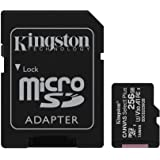 Kingston 256GB microSDHC Canvas Select Plus 100MB/s Read A1 Class 10 UHS-I Memory Card + Adapter (SDCS2/256GB)