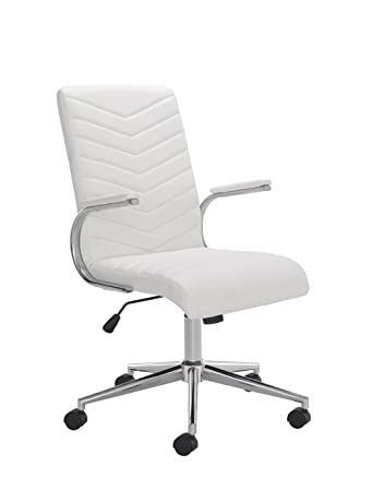 office hippo white desk chair leather amazon co uk kitchen home rh amazon co uk Commercial Office Grade Chairs Office Waiting Room Chairs Cheap