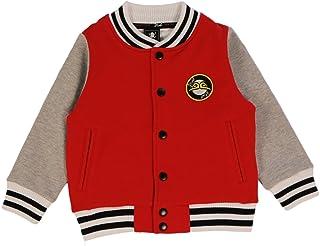 Jilubi Boy's 100% Cotton Jackets Hoodie with Camouflage Back and Raglan Sleeves Children Jacket Sweatshirt Hoodies,Red