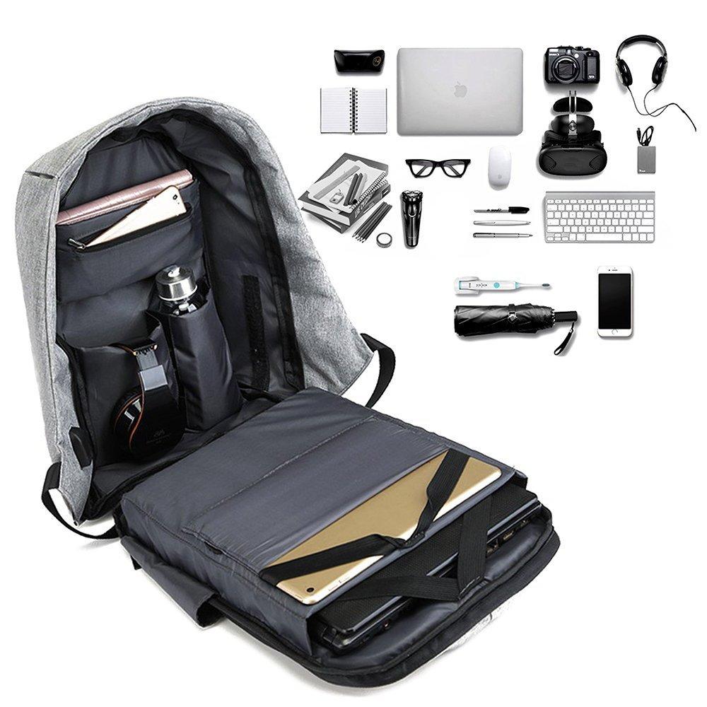 MOVINTO Anti-Diebstahl Laptop Rucksack Raumaufteilung