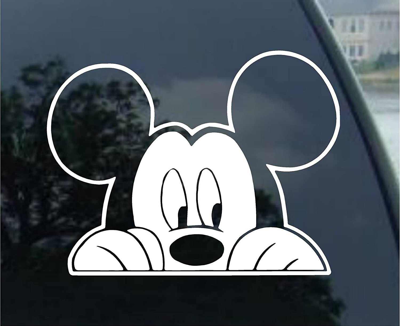 Amazon com mickey mouse peeking vinyl decal sticker sm0002 5l x 5 5w automotive