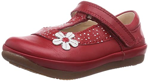7001baadabe Image Unavailable. Image not available for. Colour  Clarks Girl s Red First  Walking Shoes ...