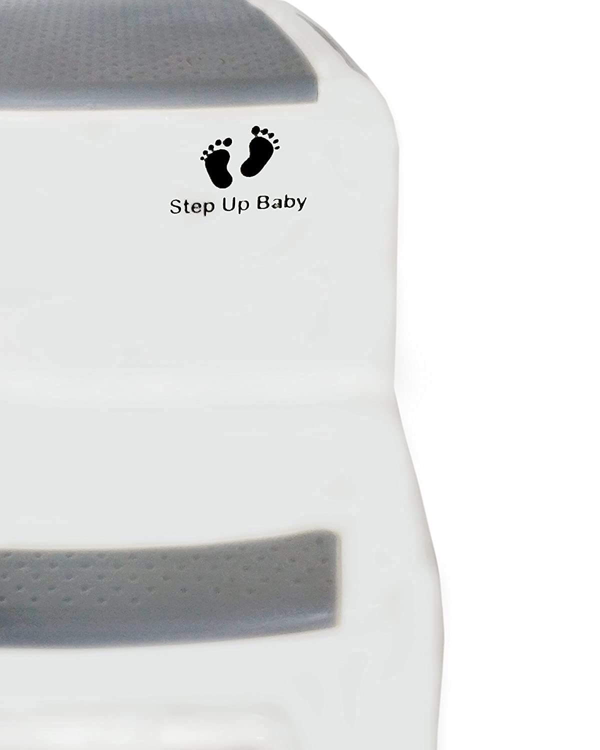 Potty Training Two-Level Stepping Stool For Kids Multipurpose Two-Step Stool With Anti-Slip Pads Sturdy Bathroom And Kitchen Step Stool Dual Height Step Stool For Toddlers By Step Up Baby