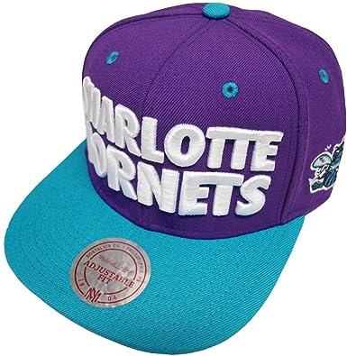 1279dfd8bf9673 Amazon.com: Mitchell & Ness NBA Charlotte Hornets Score Snapback Cap EU300  Kappe Basecap: Clothing