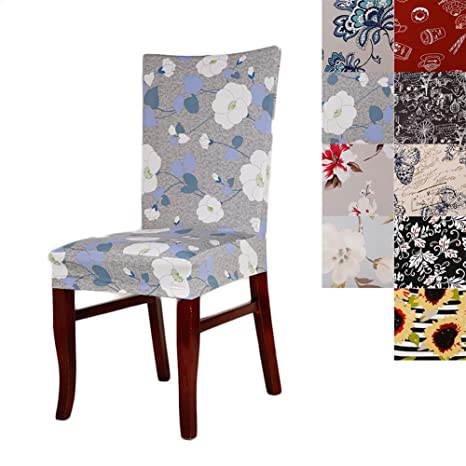 Super 1Pc Short Stretch Dining Chair Cover Washable Floral Pattern Chair Slipcovers Seat Protector For Hotel Home Decor Ncnpc Chair Design For Home Ncnpcorg