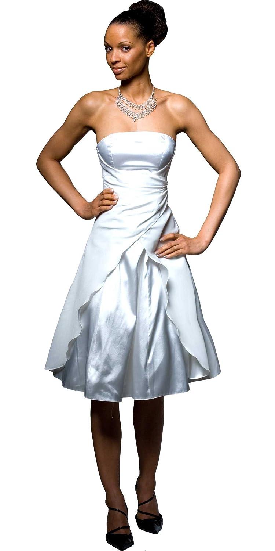 Kurzes Brautkleid, Corsagen-Cocktailkleid \