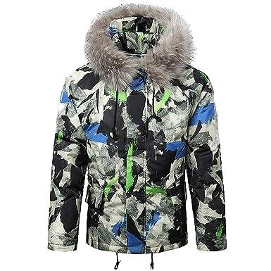 Amphia Camouflage Kapuzenjacke für Herren Herren Herbst