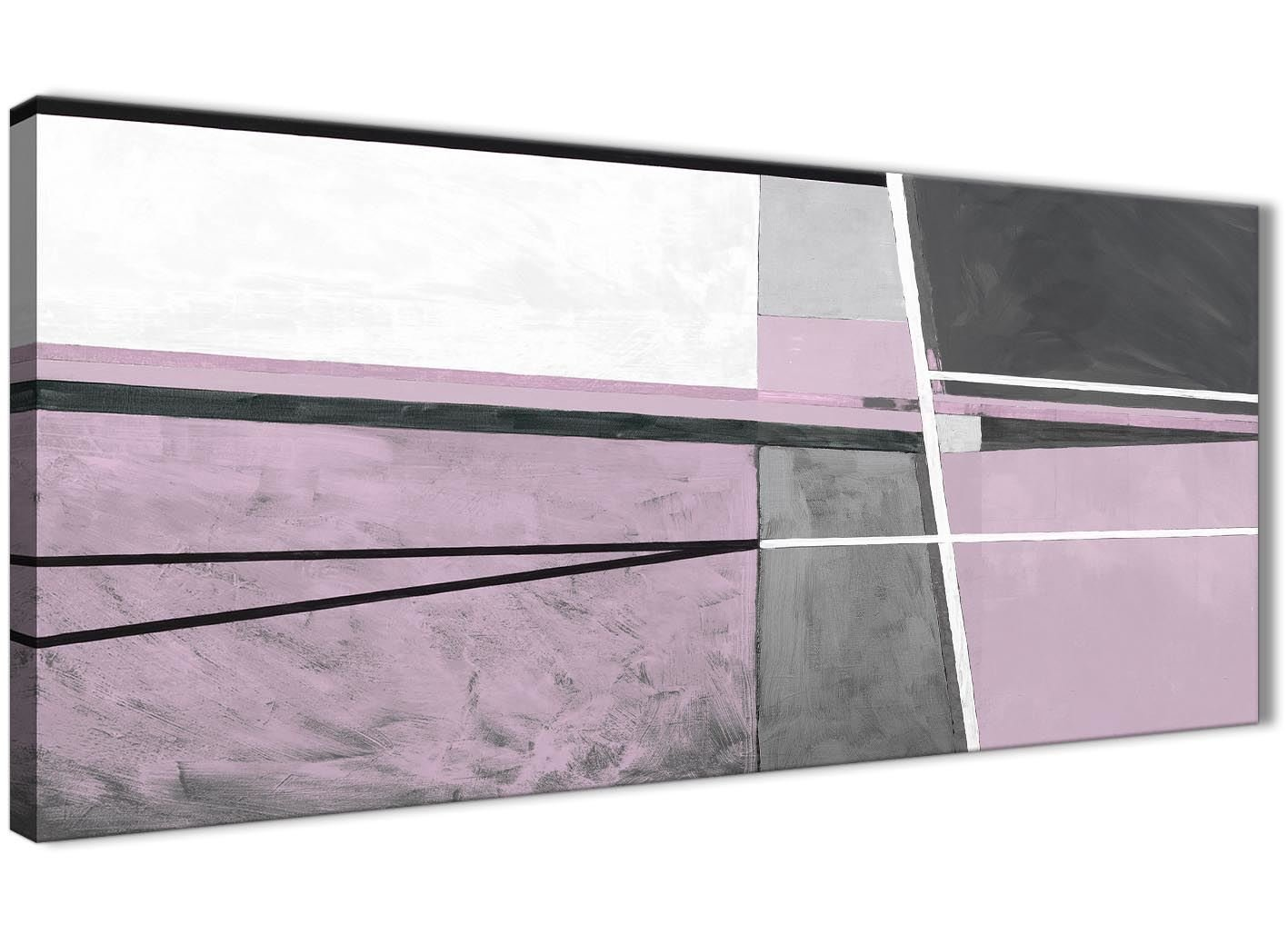 Lila Grau Wandbild Ölgemälde Wohnzimmer Leinwand Kunstdruck Zubehör–Abstrakt 1395–120cm Print Wallfillers