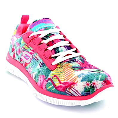 Pink Floral Bloom Flex Appeal Skechers- Pink trainers