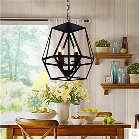 ShengYe Lámpara colgante de techo estilo rústico Lámpara de araña ...