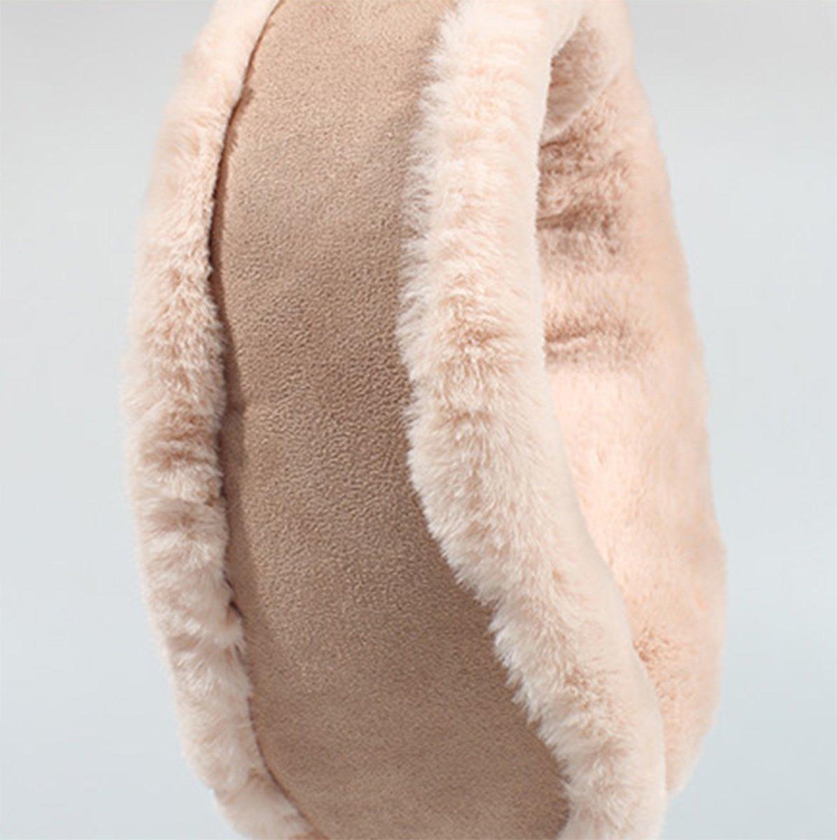 Knolee NEW Unisex Multi-function Earmuffs Earflap Foldable Outdoor Ear Muffs,Beige One Size by Knolee (Image #4)
