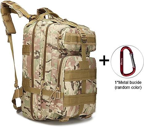 Soumal Mochila táctica Militar Grande Militar 3 días de Asalto Pack Molle Bug out Bag Mochilas Mochilas para Senderismo al Aire Libre Camping Trekking Caza 40L con 1 Hebilla, Camouflage: Amazon.es: Deportes