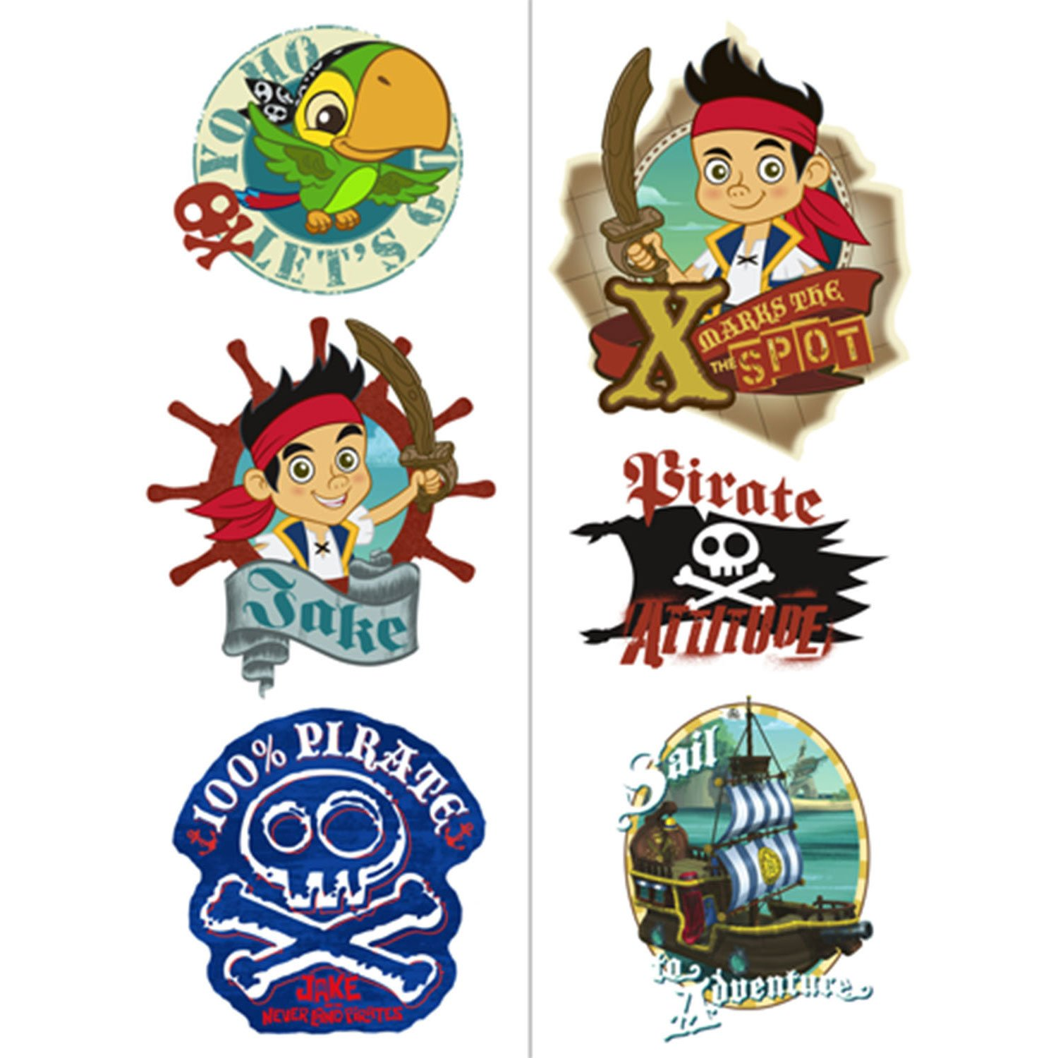 Amazon.com: Jake and the Neverland Pirates Tatoos: Toys & Games