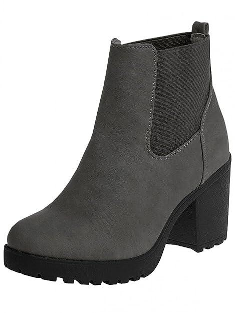 Caspar sbo045 Botines Vintage de tacón y Bandeja para Mujer: Amazon.es: Zapatos y complementos