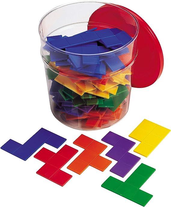 36 pcs  Home School Classroom Puzzle Pentominoes Assorted Colors 3 sets