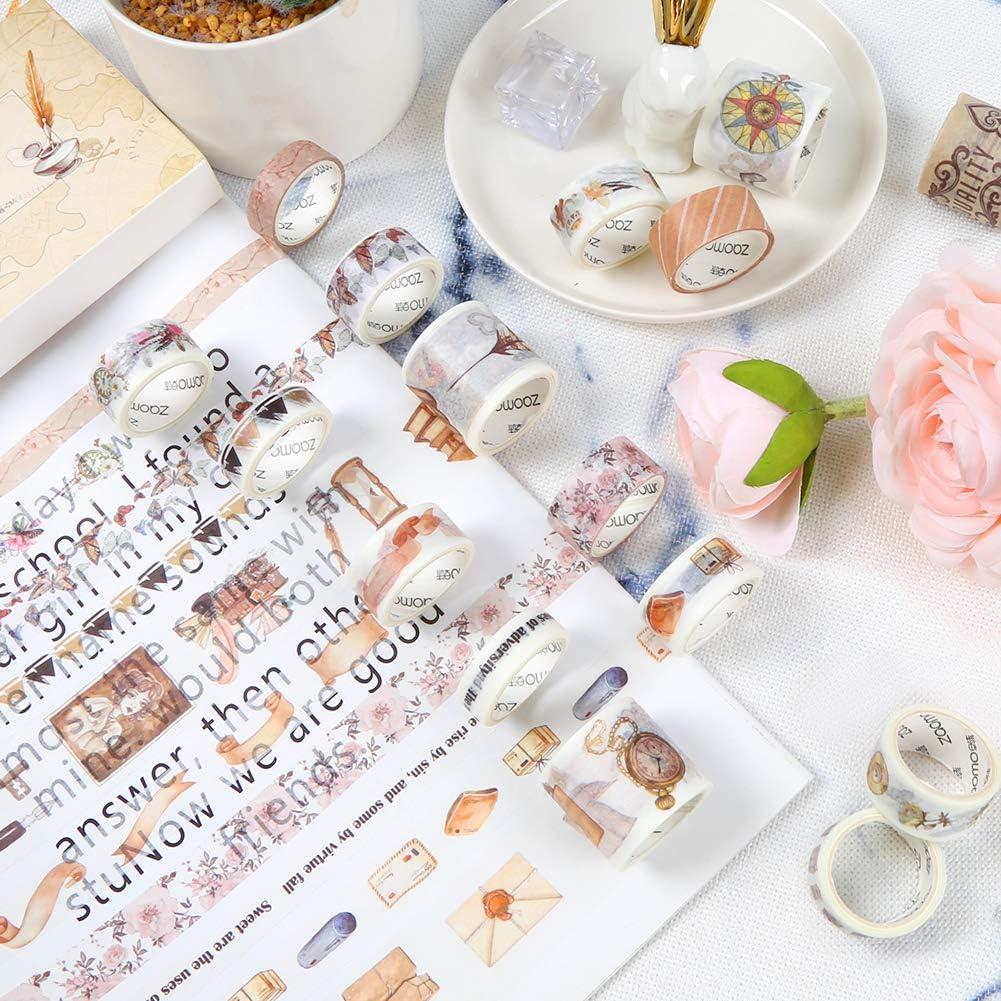 20 Rollen Masking Tape Dekoratives Klebeband f/ür DIY Basteln Journal Scrapbooking Papier Karte Geschenk HAKACC Washi Tape