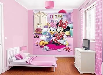 walltastic disney minnie mouse wallpaper mural multi colour