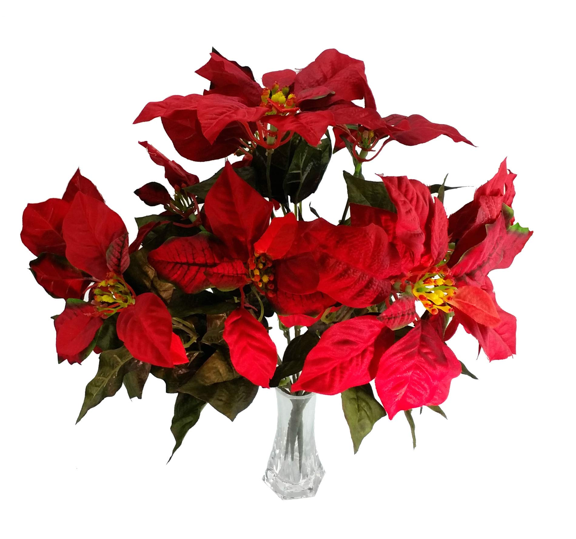 MM-TJ-Products-Artificial-Red-Poinsettia-Busch-5-Stems-2-Bushes