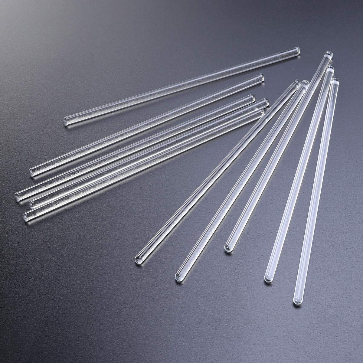 agitatore in vetro per mescolare bevande o cocktail caldi o freddi 10 pezzi UKCOCO resistente alle alte temperature