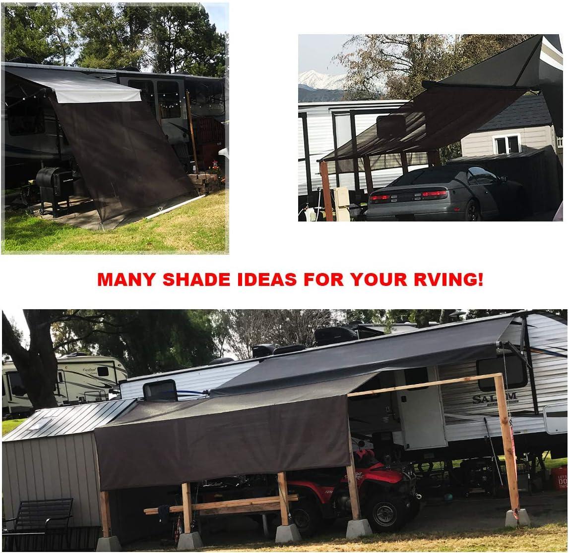 Shadeidea RV Sun Shade Screen for Awning 8 X 10 5 Black Mesh Sunshade Motorhome Camping Trailer UV Sunblocker Canopy Sunscreen Offer 3 Years Warranty
