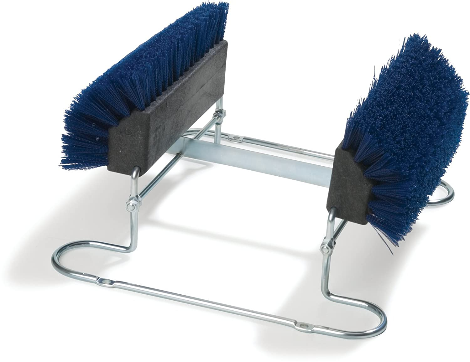 Carlisle 4042414 Commercial Boot N Shoe Brush Scraper with Chrome Plated Steel Frame Blue