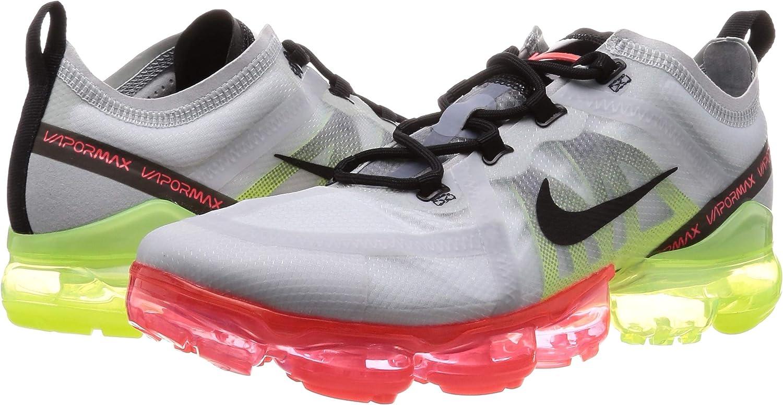 exilio mil millones Escándalo  Amazon.com | Nike Men's Air Vapormax 2019 Pure Platinum/Black/Volt Nylon  Running Shoes 14 M US | Shoes