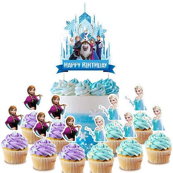 Decoración para tarta de Frozen, decoración para cupcakes ...