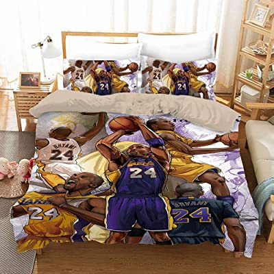 AMTAN Basketball Duvet Cover Set 3D Basketball Team Micro Design Bedding Set Kids Teenagers and Adults Bed Set Best Gift for Basketball Fans 1 Duvet Cover 2 Pillowcases Full Size: Home & Kitchen