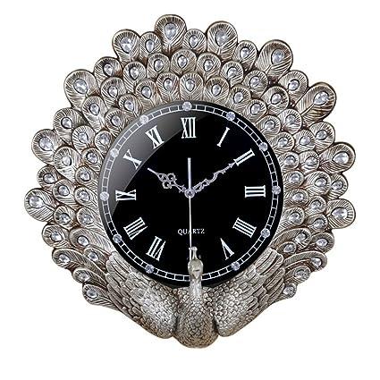 Números Romanos del dial de Vidrio de Alta Permeabilidad del Reloj del Pavo Real, Creativo
