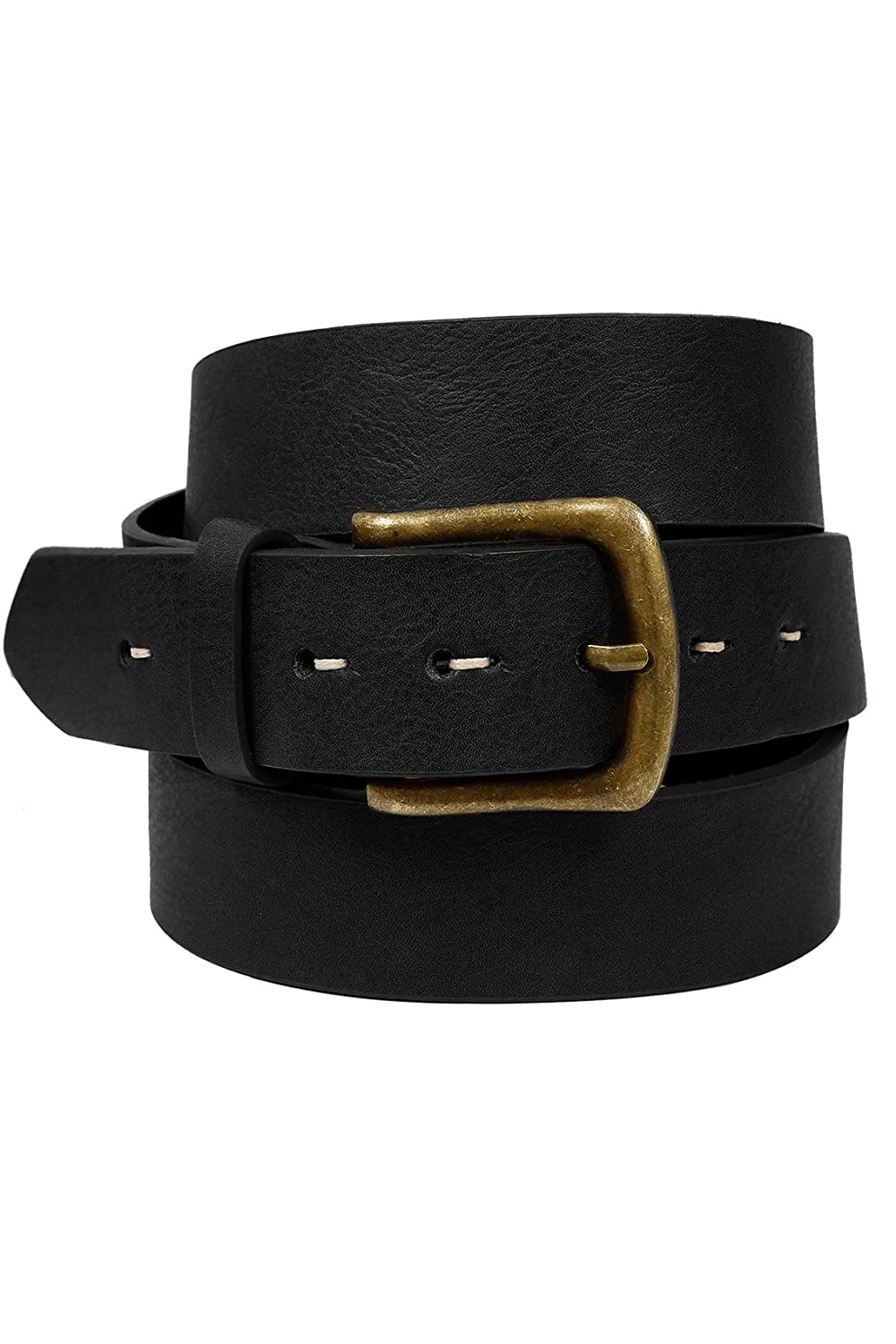 Yoursclothing Mens Badrhino Bonded Leather Jean Belt