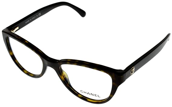 Amazon.com: Chanel Prescription Eyewear Frames Womens Cat Eye Dark ...