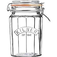 Kilner Facetted Clip Top Jar, 950ml, Transparent 01772