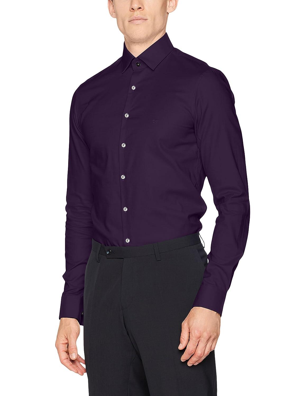 Calvin Klein Bari Slim Fit FTC, Camisa de Oficina para Hombre