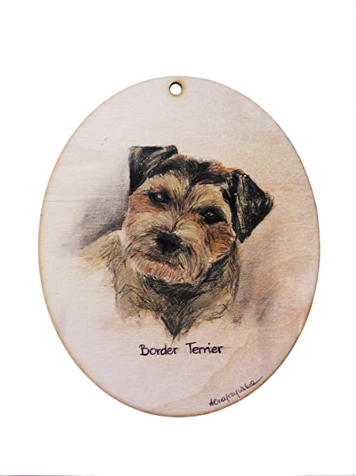 Amazon.com: Border Terrier, pintura, imagen, cartel, técnica ...