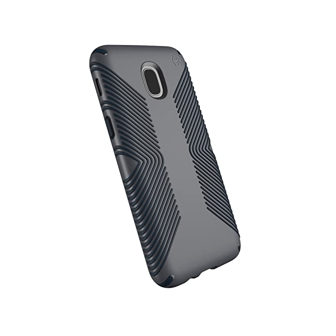 differently 61496 b4088 Speck Products Compatible Phone Case for Samsung Galaxy J7 (fits Verizon J7  V 2nd Gen; T-Mobile J7 Star), Presidio Grip Case, Graphite Grey/Charcoal ...