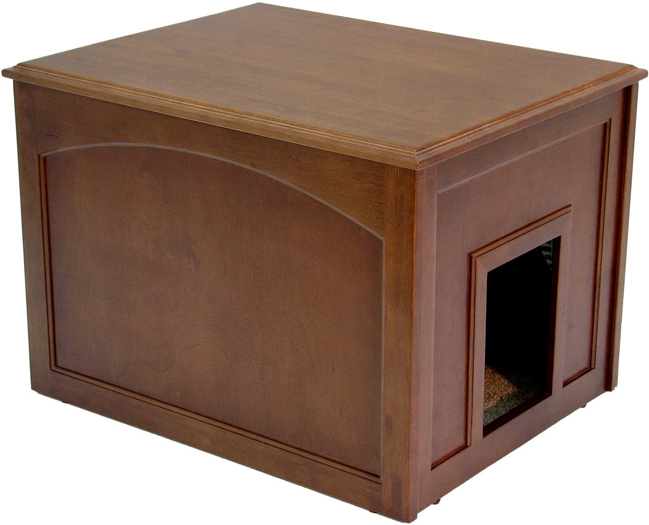 Crown Pet Products Dog Den Cabinet/Indoor Doghouse, Mahogany