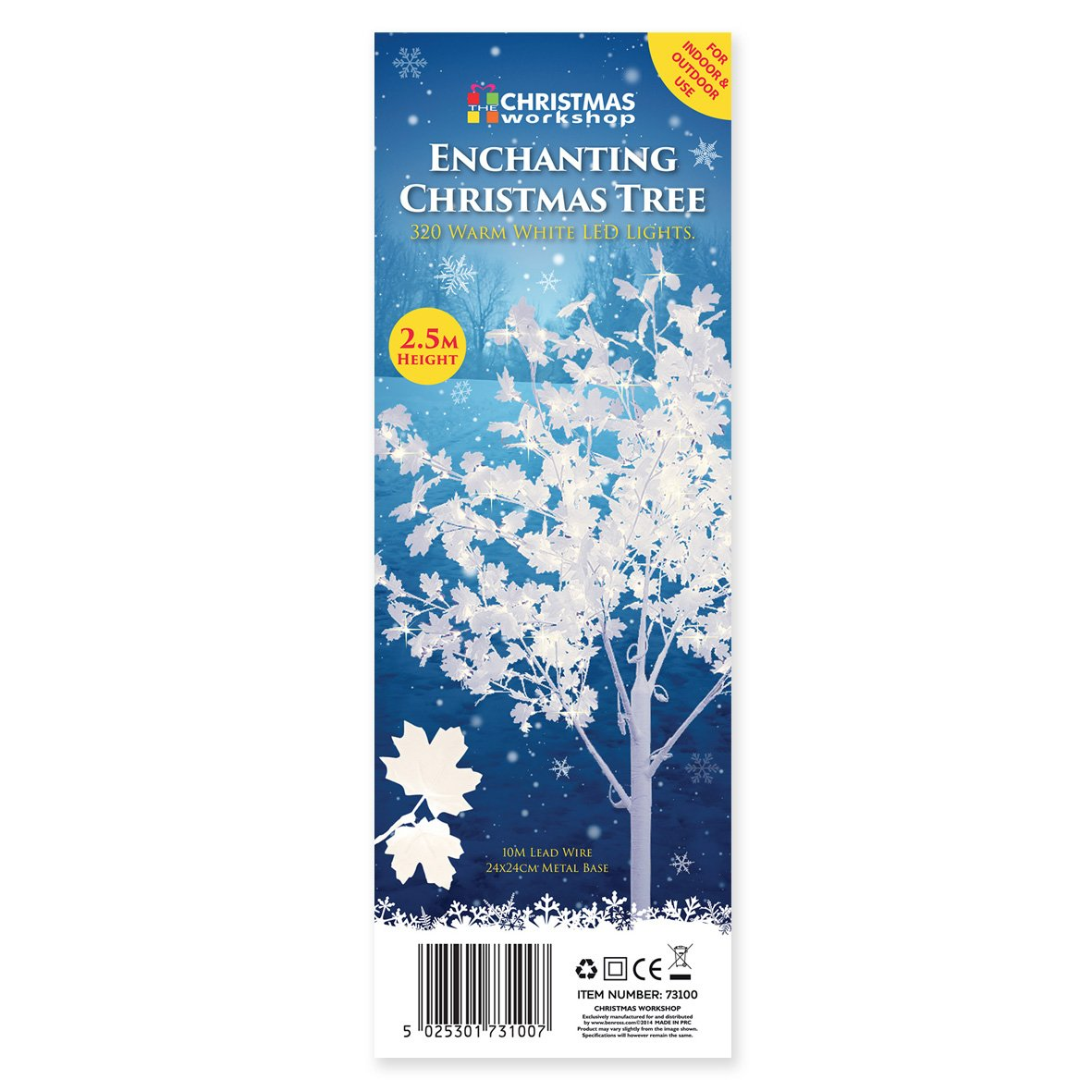 The Christmas Workshop Leafed Tree with Metal Base, White: Amazon.co ...