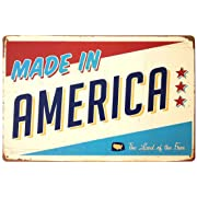 ERLOOD Made in America Retro Vintage Tin Sign 12x 8