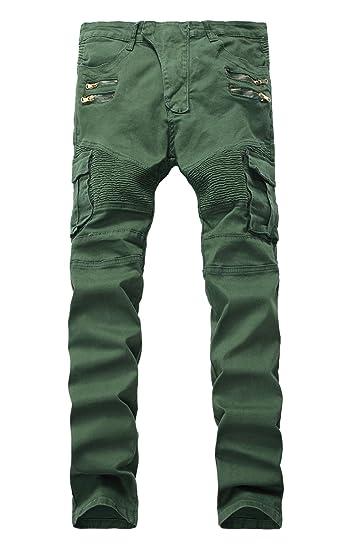 Amazon.com: LAMCORD Pantalones vaqueros ajustados ajustados ...