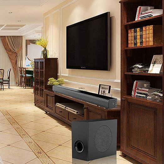 LAHappy Barra De Sonido TV 5.1 Canales para TV/PC, Mini Soundbar ...