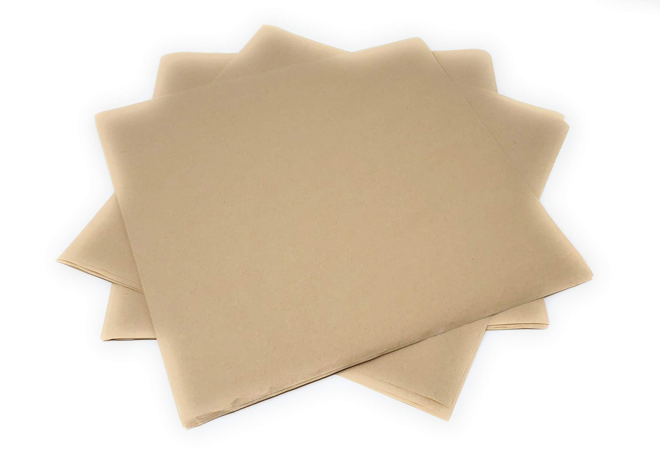Deli Paper Sheets In Squares Of 12'' x 12'', 250 Natural Kraft Food Deli Sheets