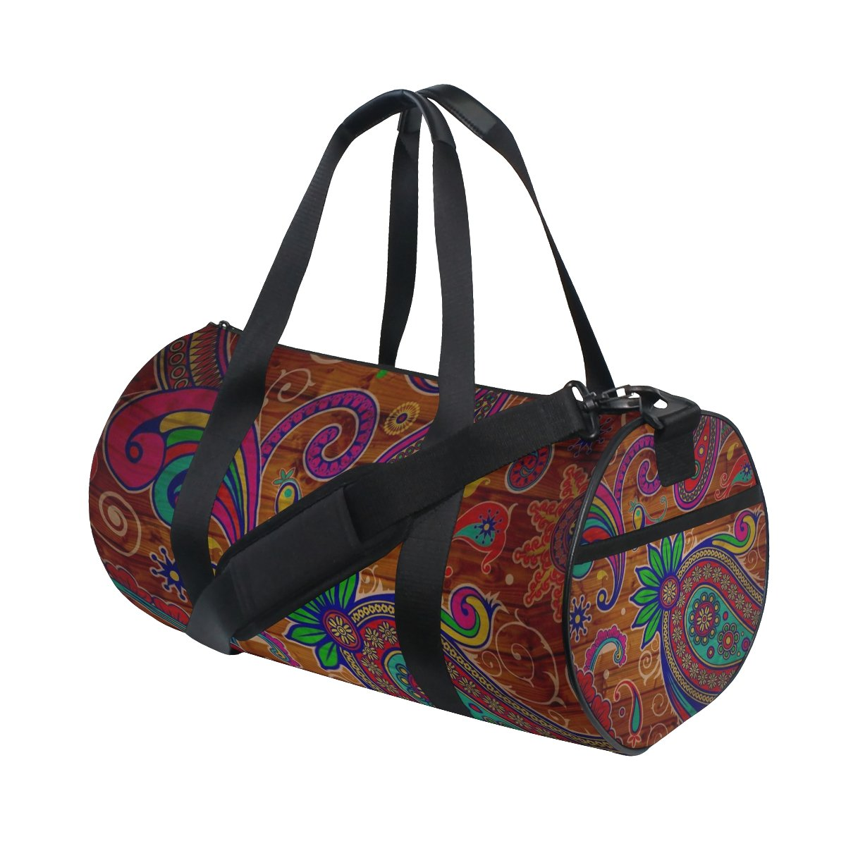 Pattern Texture Colorful Lightweight Canvas Sports Travel Duffel Yoga Gym Bag by JIUMEI