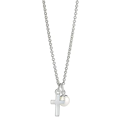 chain necklace first personalized with silver initial products confirmation and communion disc cross gift