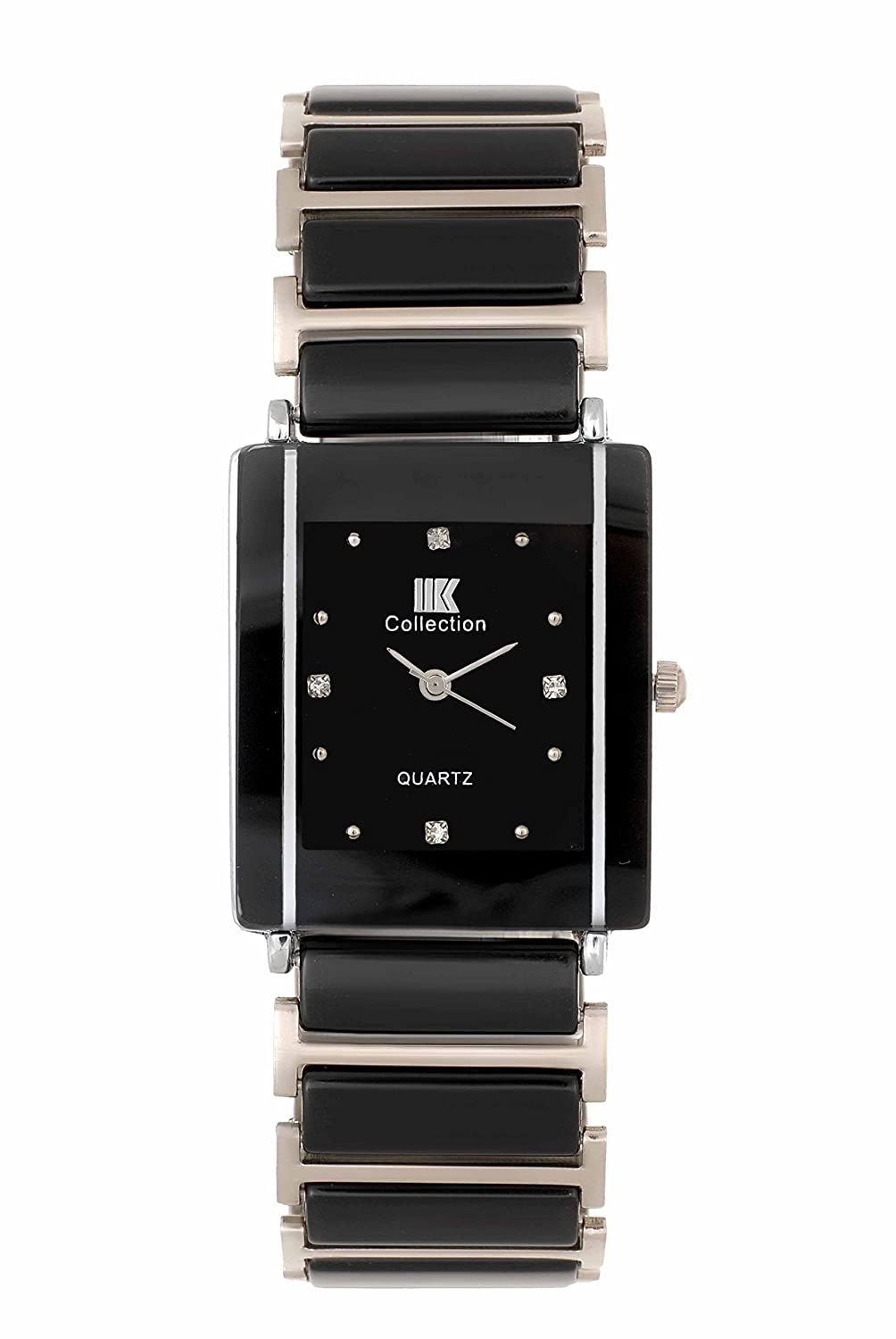 watch emporio steel lyst in for stainless product armani rectangular gallery black accessories watches men