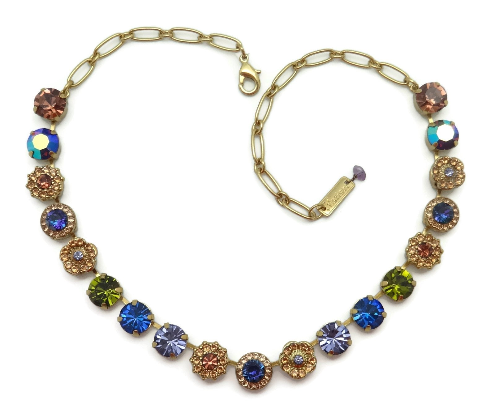 Mariana English Gold Plated Swarovski Crystal Necklace Multi Color Mosaic 1089 Odyssey Penelope by Mariana (Image #3)