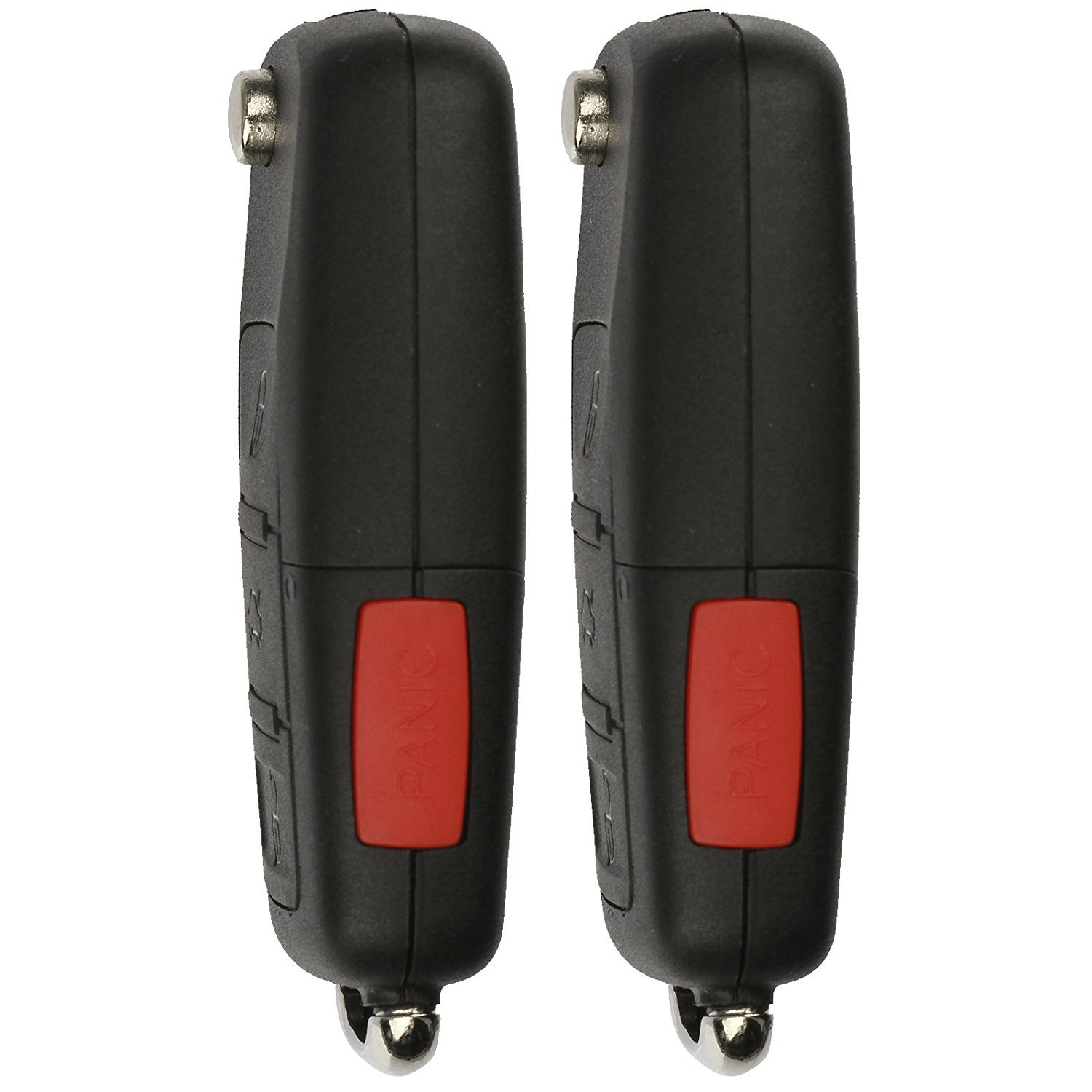 Pack of 2 KeylessOption Keyless Entry Remote Control Car Uncut Flip Key Fob Replacement for VW Touareg KR55WK45032