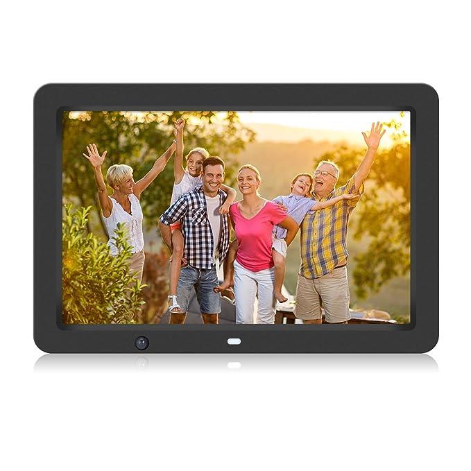 Marco de Fotos Digital con Sensor de Movimiento, 12 Pulgadas, HD 1280 * 800, Memoria USB de 8GB, Para Música MP3 Video MP4 Compatible con OTG Control ...