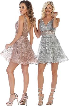 Formal Dress Shops Inc Fds1653 Semi Formal Dance Designer Dress At Amazon Women S Clothing Store